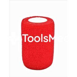 Bandaż kohezyjny 10cm x 450cm czerwony