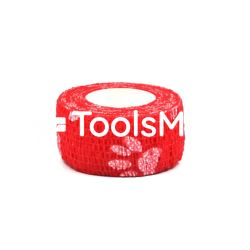 Bandaż kohezyjny 2,5cm x 450 cm czerwony w łapki