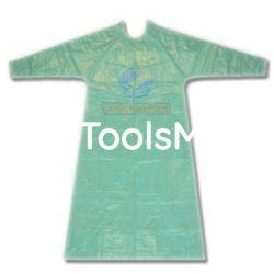 Fartuch foliowy zielony typu suknia 20 szt/op