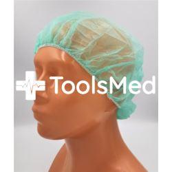 Czepek chirurgiczny damski zielony