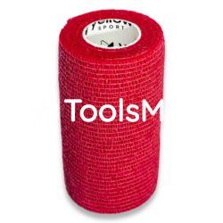 Bandaż kohezyjny 10cm x 4,5m czerwony