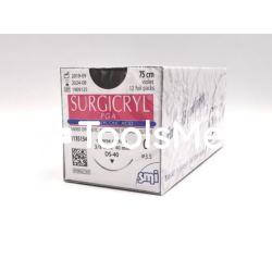 Surgicryl PGA USP 0 z igłą okrągłą 1/2 koła 30mm