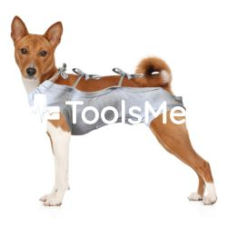Koszulka pooperacyjna dla psa r.2(S) szara, 28cm