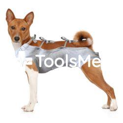 Koszulka pooperacyjna dla psa r.4(L) szara, 44cm