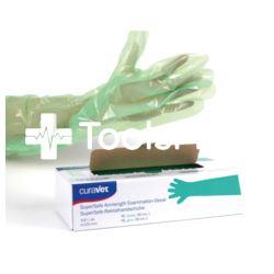 Rękawice rektalne zielone 90 cm 100szt/op